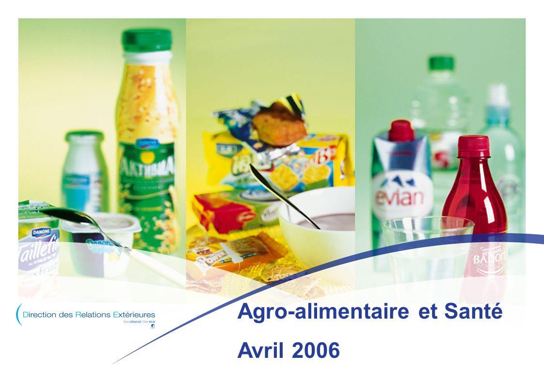Agro-alimentaire et Santé Avril 2006