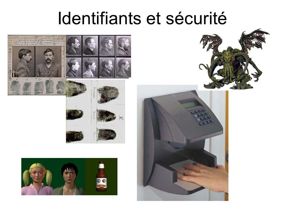 Identifiants et sécurité