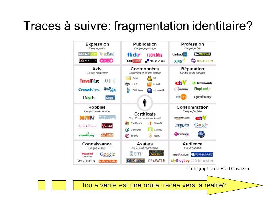 Traces à suivre: fragmentation identitaire.