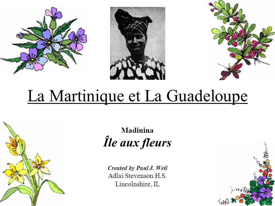 La Martinique et La Guadeloupe Madinina Île aux fleurs Created by Paul J.
