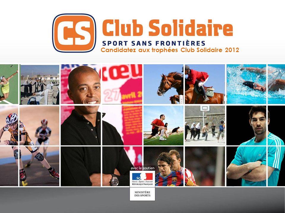 Pour candidater, je remplis ce formulaire VOTRE CLUB SOLIDAIRE Nom du club : Sport exercé : Coordonnées (adresse postale, e-mail, téléphone, page fb, site web) : Club Solidaire depuis : Représenté par : E-mail + téléphone :