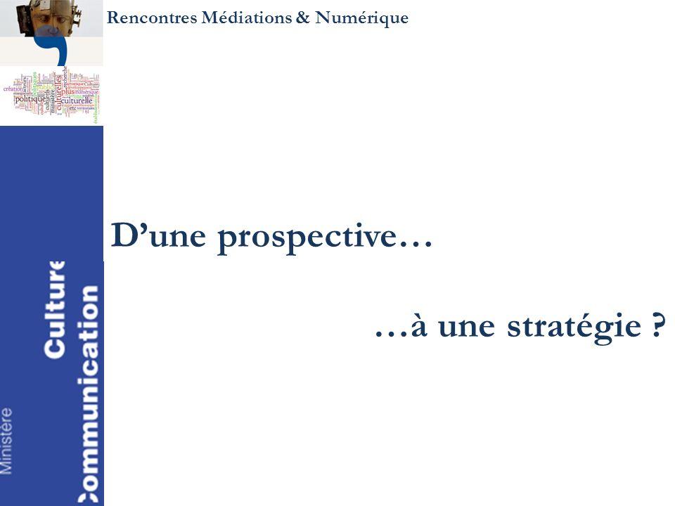 Rencontres Médiations & Numérique Dune prospective… …à une stratégie ?