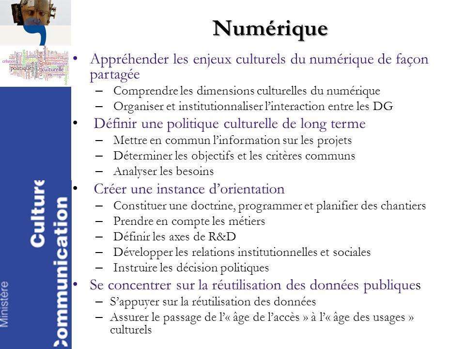 Numérique Appréhender les enjeux culturels du numérique de façon partagée – Comprendre les dimensions culturelles du numérique – Organiser et institut