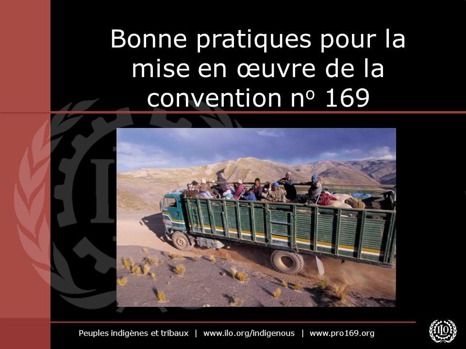Peuples indigènes et tribaux | www.ilo.org/indigenous | www.pro169.org Bonne pratiques pour la mise en œuvre de la convention n o 169