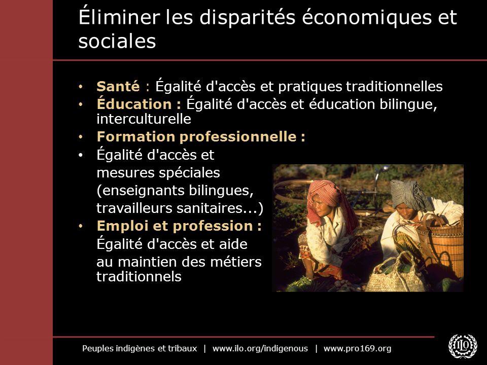 Peuples indigènes et tribaux | www.ilo.org/indigenous | www.pro169.org Éliminer les disparités économiques et sociales Santé : Égalité d'accès et prat