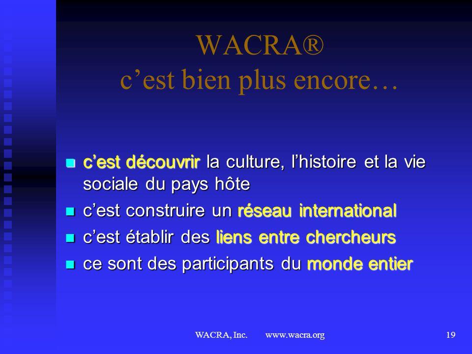 WACRA, Inc. www.wacra.org18 Nouvelles Initiatives Journal International (évaluation par les pairs) Journal International (évaluation par les pairs) le