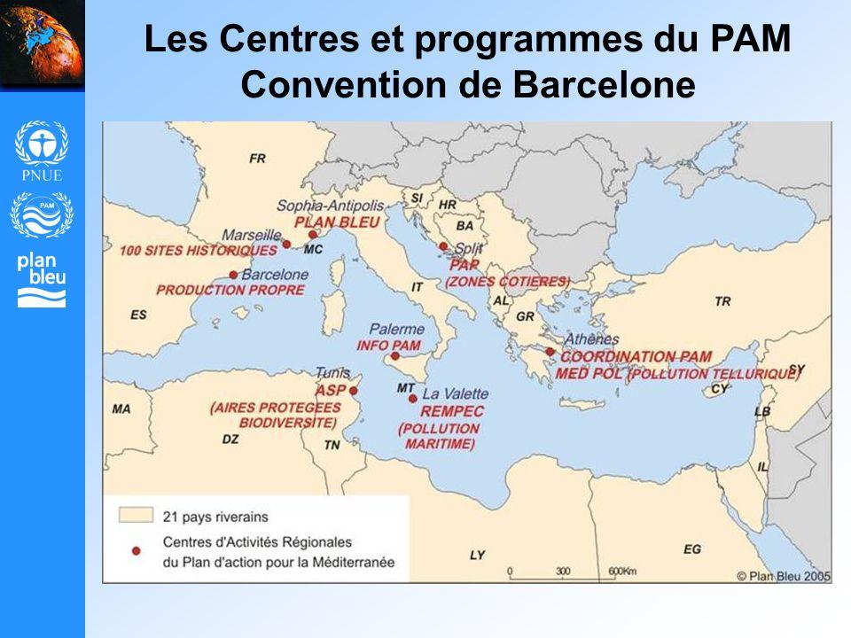 Les Centres et programmes du PAM Convention de Barcelone