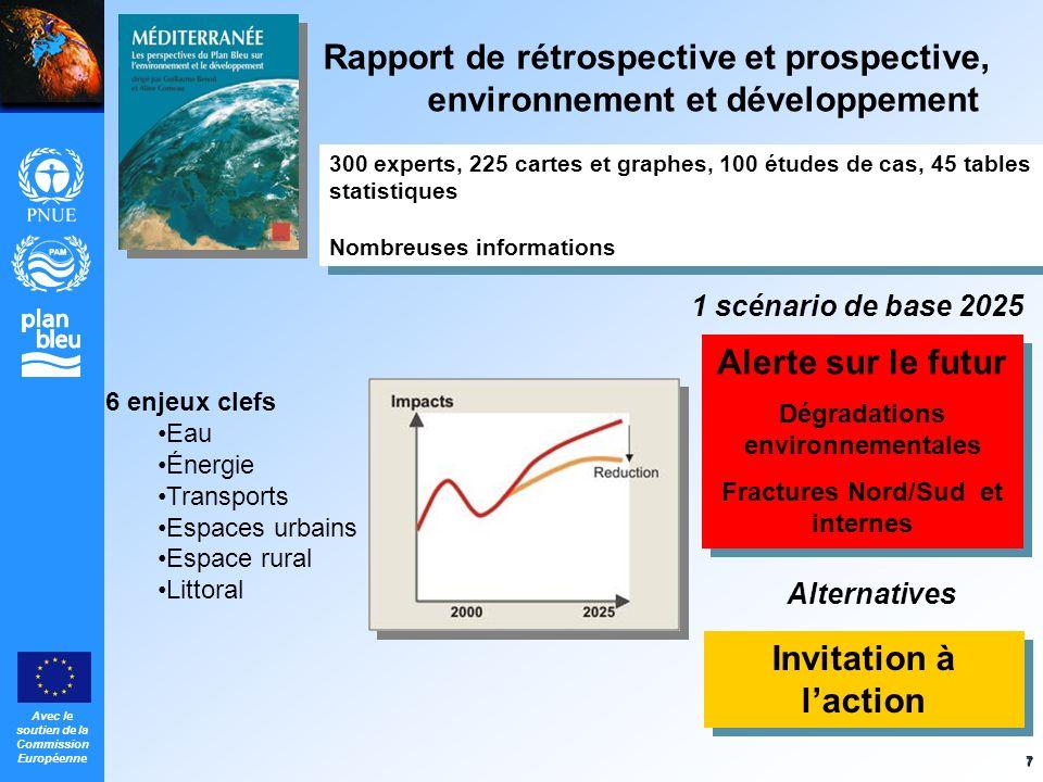 Avec le soutien de la Commission Européenne 7 Invitation à laction Alerte sur le futur Dégradations environnementales Fractures Nord/Sud et internes A