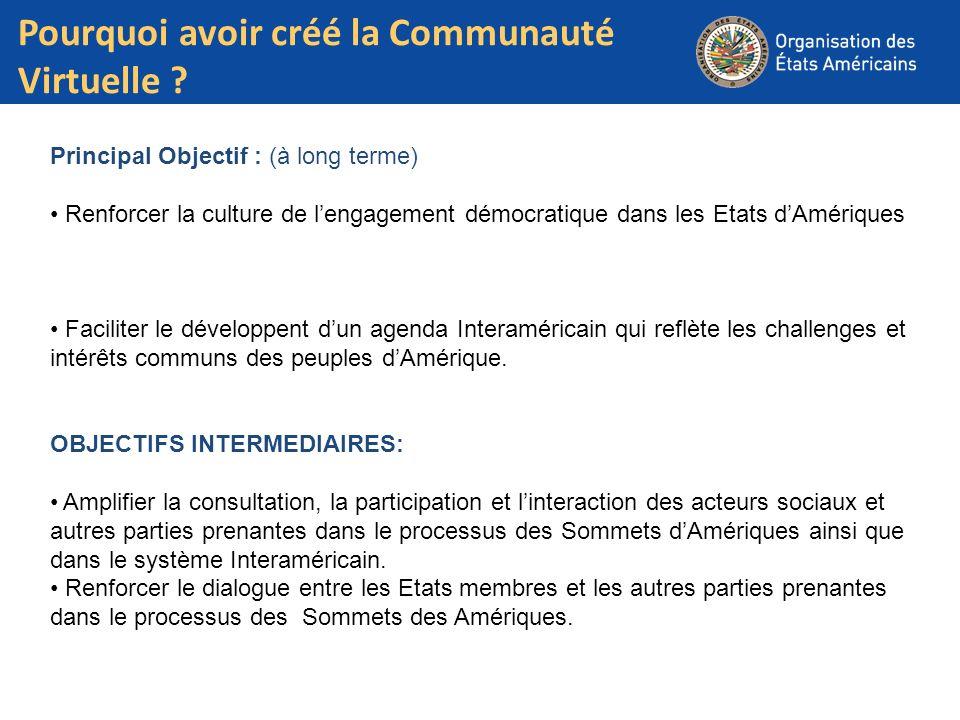 Pourquoi avoir créé la Communauté Virtuelle ? Txt Text Principal Objectif : (à long terme) Renforcer la culture de lengagement démocratique dans les E