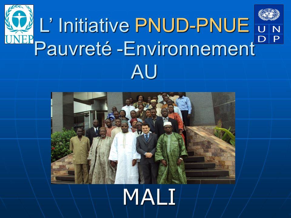 L Initiative PNUD-PNUE Pauvreté -Environnement AU MALI