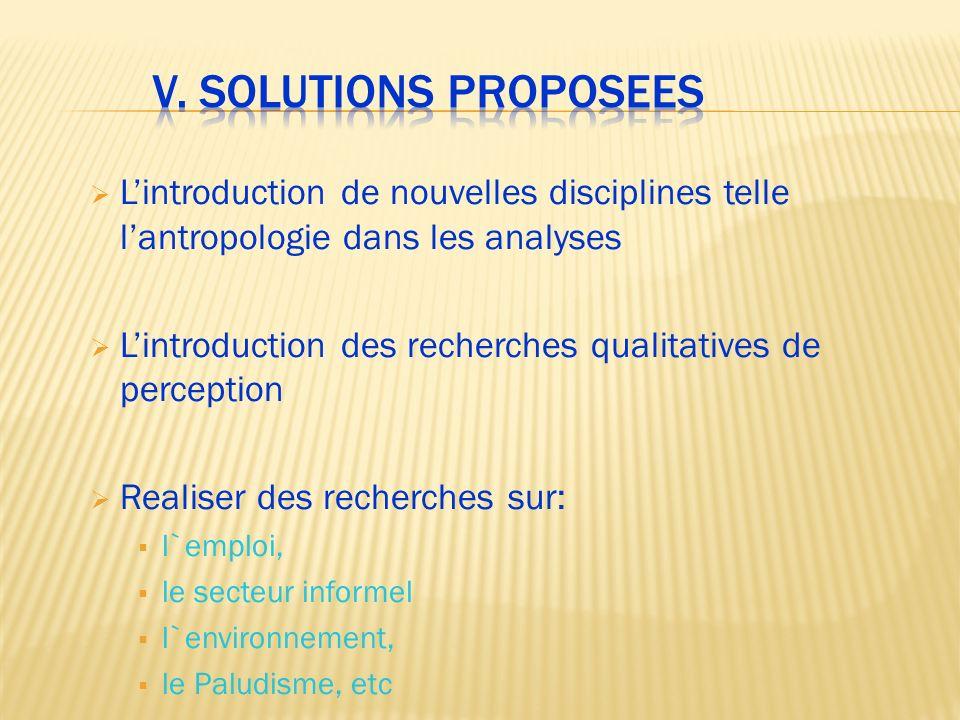 Lintroduction de nouvelles disciplines telle lantropologie dans les analyses Lintroduction des recherches qualitatives de perception Realiser des rech