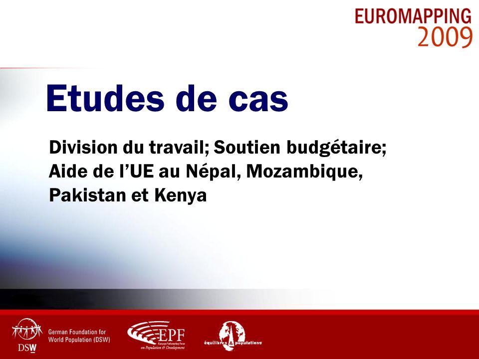 Etudes de cas Division du travail; Soutien budgétaire; Aide de lUE au Népal, Mozambique, Pakistan et Kenya