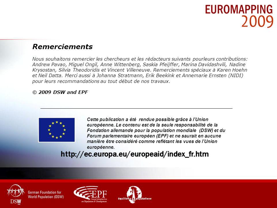 Cette publication a été rendue possible grâce à lUnion européenne. Le contenu est de la seule responsabilité de la Fondation allemande pour la populat