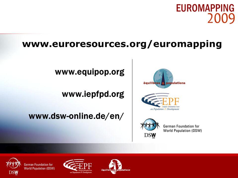 www.equipop.org www.iepfpd.org www.dsw-online.de/en/ www.euroresources.org/euromapping