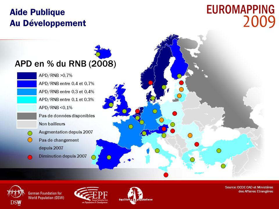 APD/RNB >0,7% APD/RNB entre 0,4 et 0,7% APD/RNB entre 0,3 et 0,4% APD/RNB entre 0,1 et 0,3% APD/RNB <0,1% Pas de données disponibles Non bailleurs Aug
