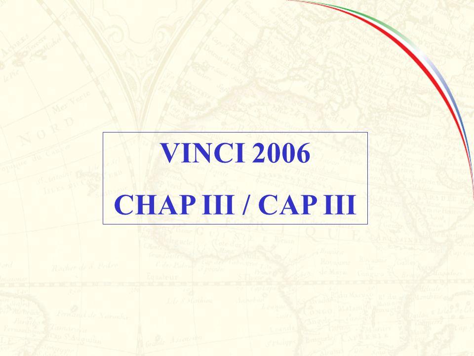 VINCI 2006 CHAP III / CAP III