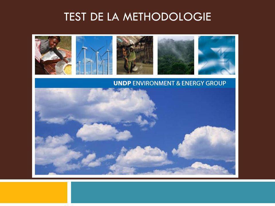 TEST DE LA METHODOLOGIE