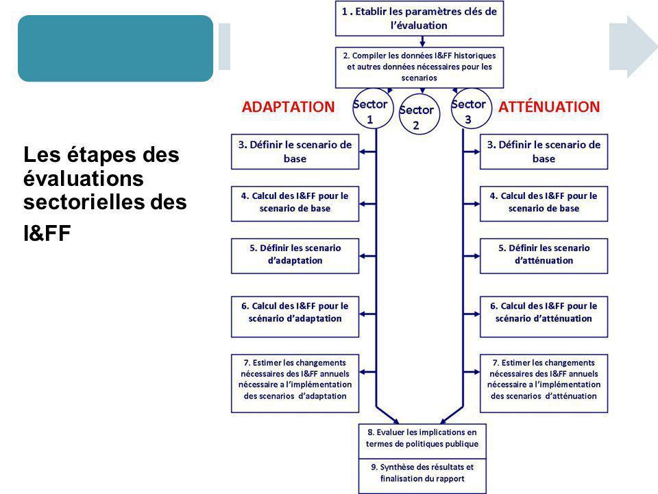 Les étapes des évaluations sectorielles des I&FF