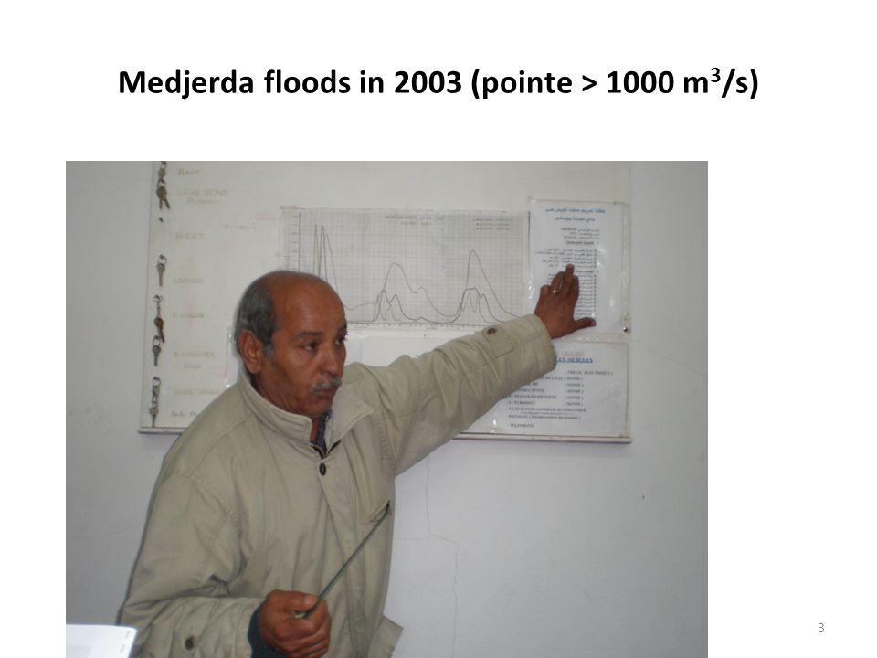 3 Medjerda floods in 2003 (pointe > 1000 m 3 /s)