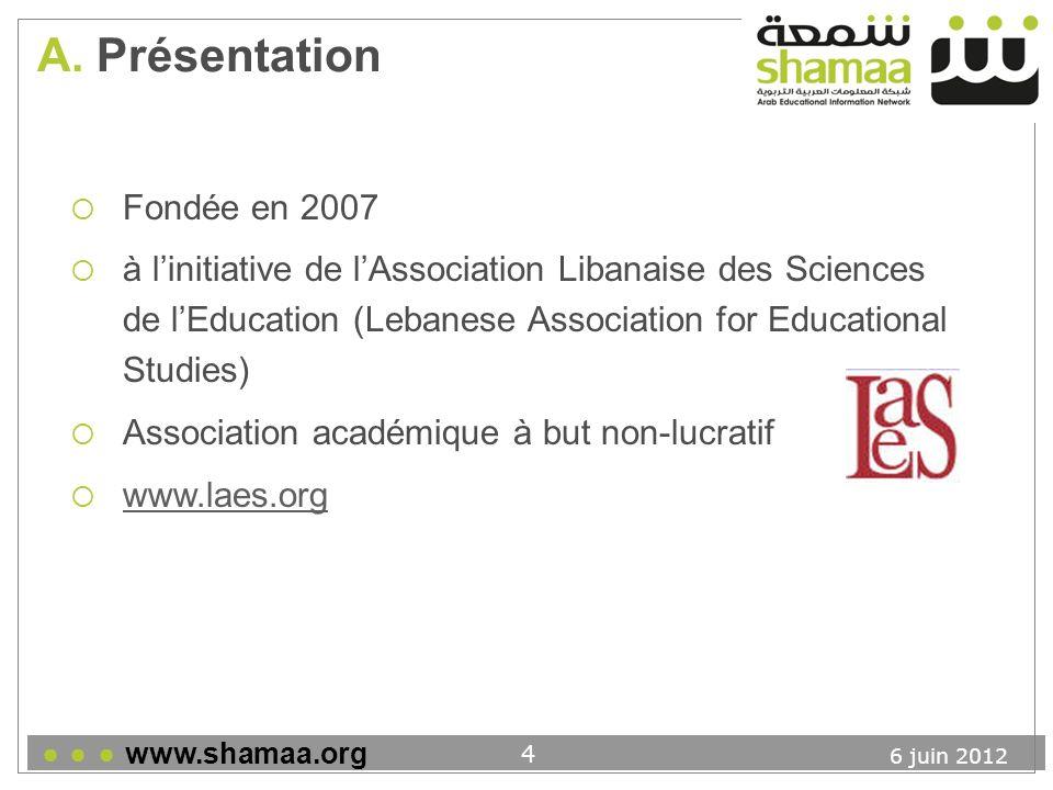 6 juin 2012 www.shamaa.org 5 A.