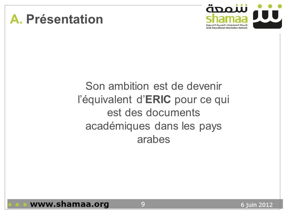 6 juin 2012 www.shamaa.org 10 B.