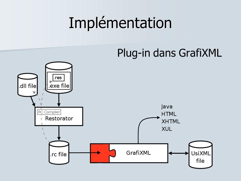 Implémentation Plug-in dans GrafiXML