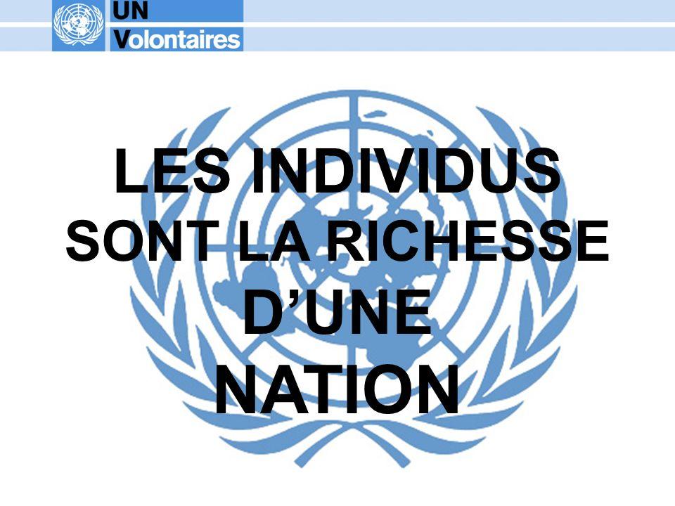 LES INDIVIDUS SONT LA RICHESSE DUNE NATION