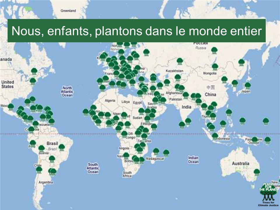 Nous, enfants, plantons dans le monde entier
