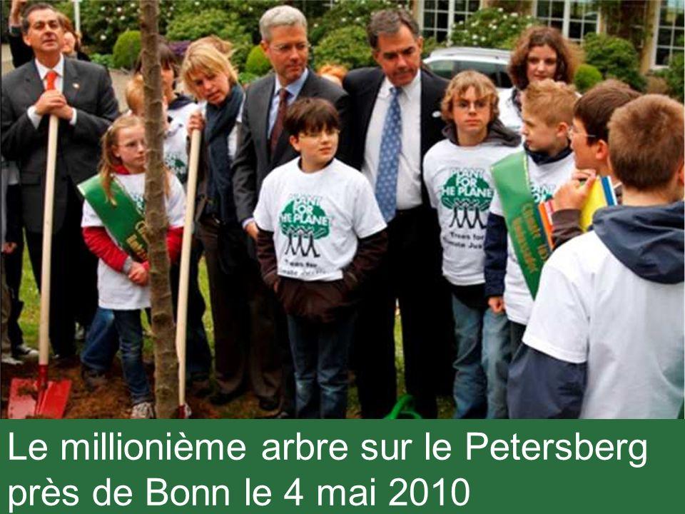 Le millionième arbre sur le Petersberg près de Bonn le 4 mai 2010