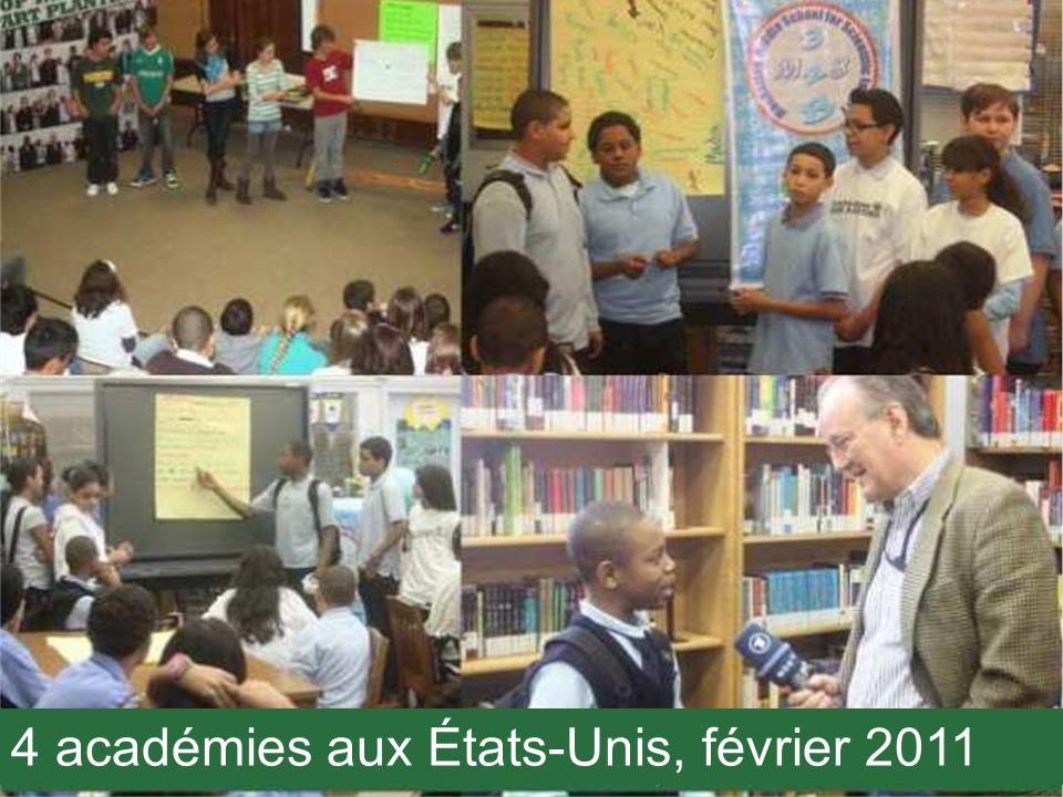 4 académies aux États-Unis, février 2011