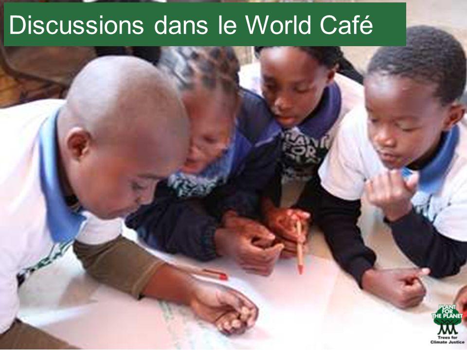 Discussions dans le World Café