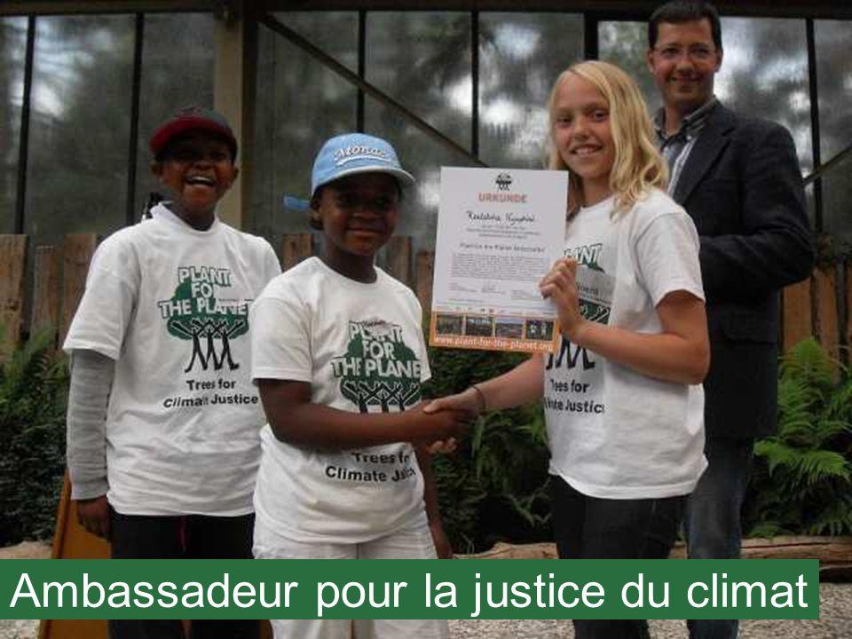 Ambassadeur pour la justice du climat