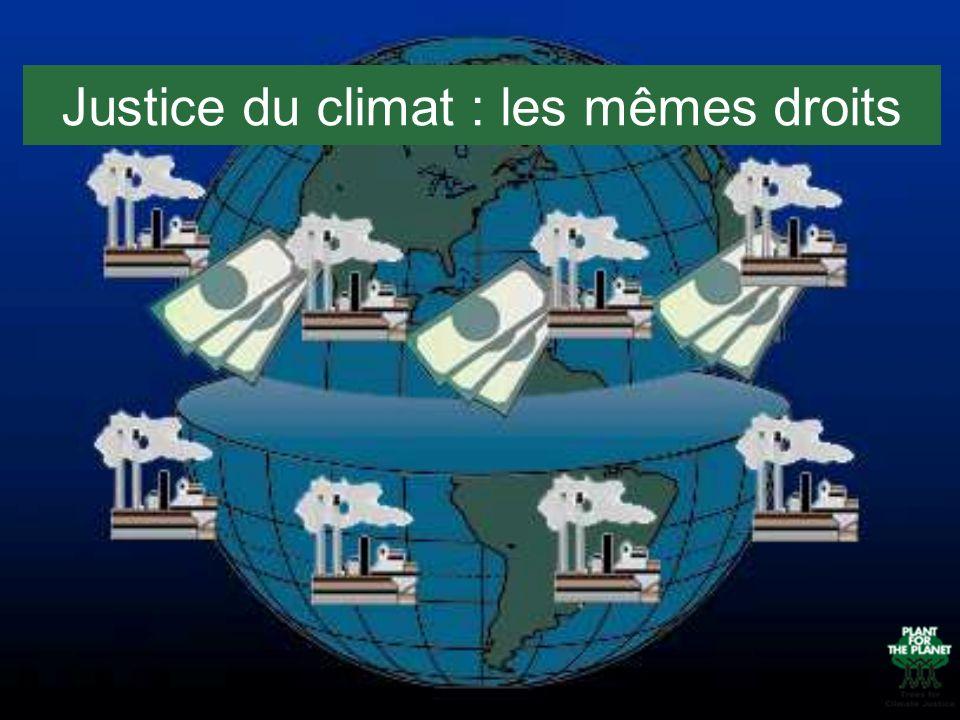 Justice du climat : les mêmes droits