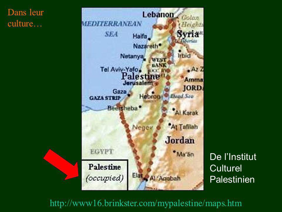 http://www16.brinkster.com/mypalestine/maps.htm Dans leur culture… De lInstitut Culturel Palestinien