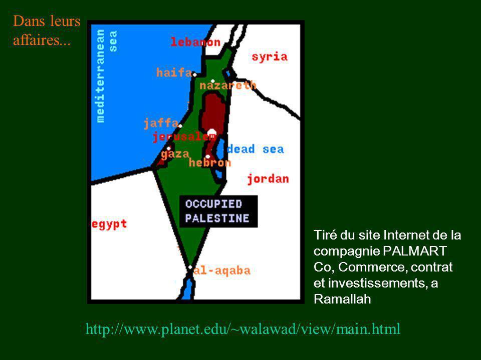 http://www.planet.edu/~walawad/view/main.html Dans leurs affaires... Tiré du site Internet de la compagnie PALMART Co, Commerce, contrat et investisse