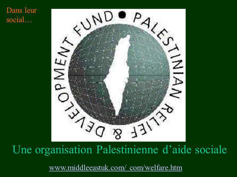 www.middleeastuk.com/ com/welfare.htm Une organisation Palestinienne daide sociale Dans leur social…
