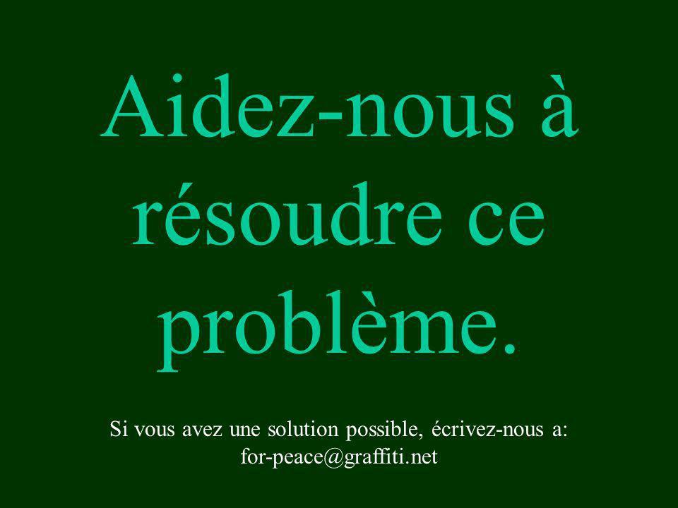 Aidez-nous à résoudre ce problème. Si vous avez une solution possible, écrivez-nous a: for-peace@graffiti.net