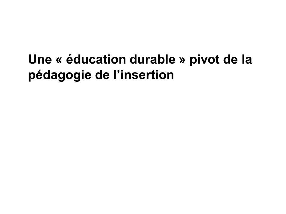 Une « éducation durable » pivot de la pédagogie de linsertion