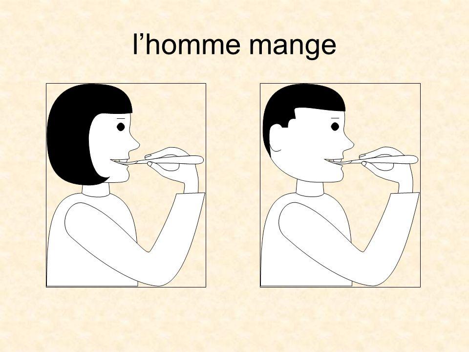 lhomme mange