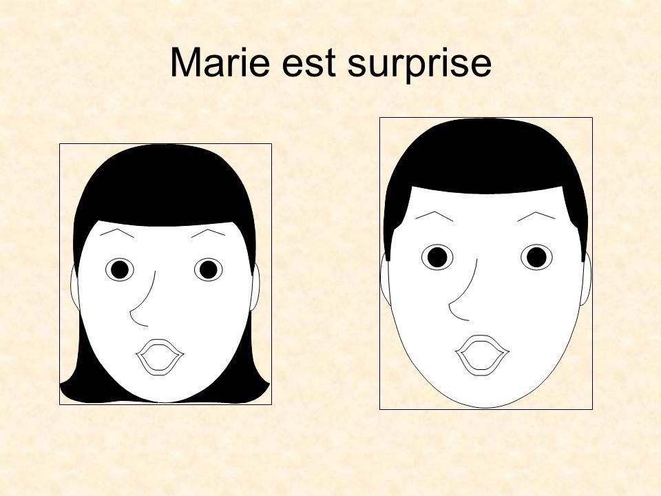 Marie est surprise