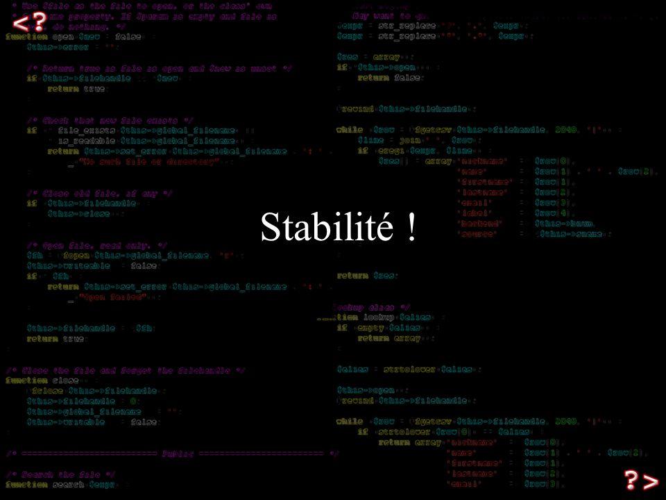 Stabilité !