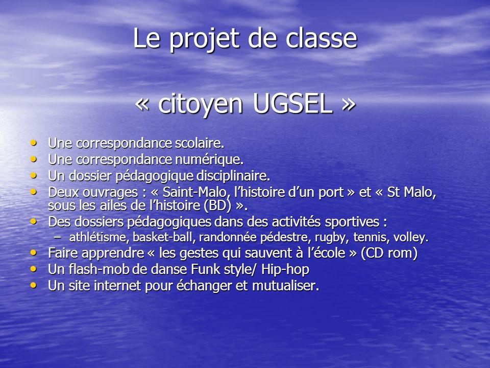 Le projet de classe « citoyen UGSEL » Une correspondance scolaire. Une correspondance scolaire. Une correspondance numérique. Une correspondance numér
