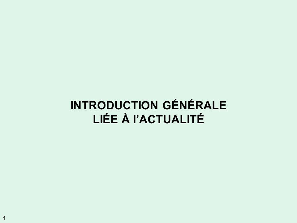 INTRODUCTION GÉNÉRALE LIÉE À lACTUALITÉ 1