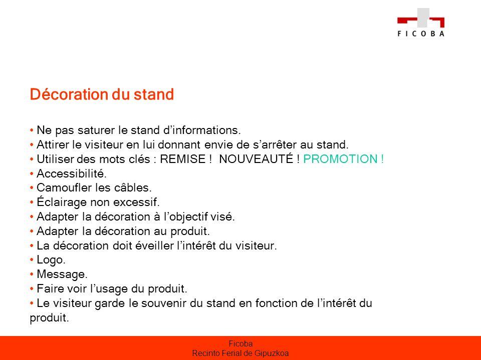 Ficoba Recinto Ferial de Gipuzkoa Promotion préalable du stand Mailing : langue, coupon-réponse.