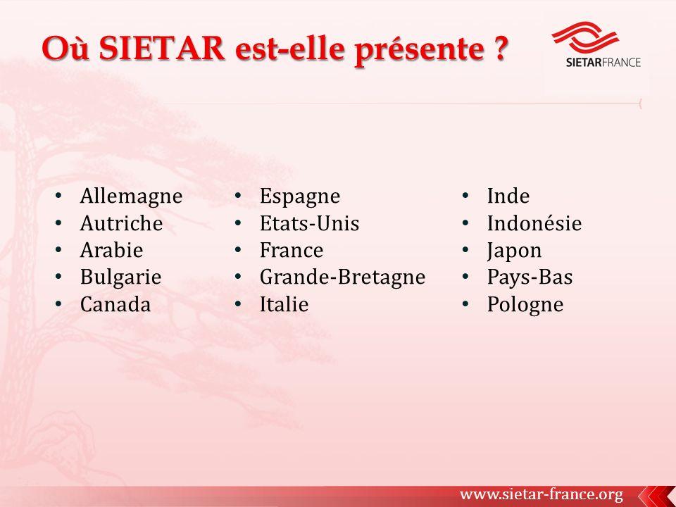 Espagne Etats-Unis France Grande-Bretagne Italie Allemagne Autriche Arabie Bulgarie Canada www.sietar-france.org Inde Indonésie Japon Pays-Bas Pologne
