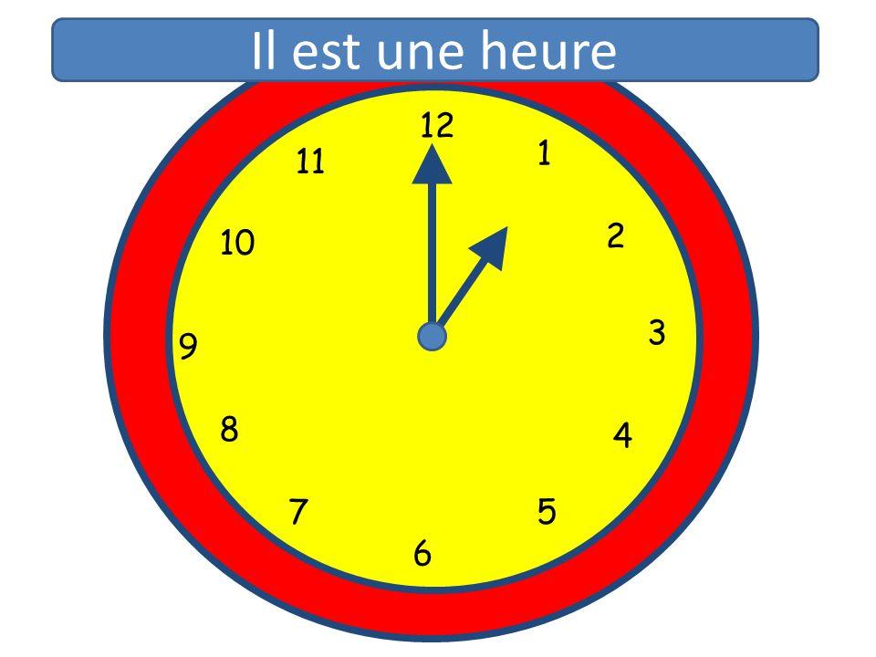 1 2 3 4 5 6 7 8 9 10 11 12 1 5 4 9 3 6 10 11 2 7 8 Il est une heure