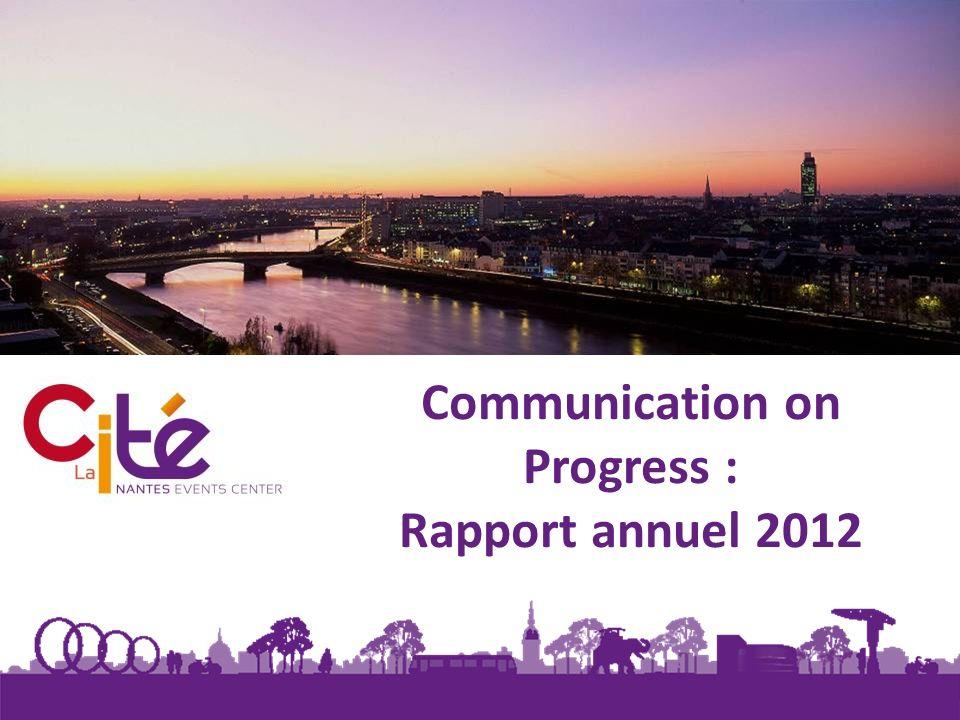 2 Ayant déjà un Rapport RSE édité annuellement, nous avons souhaité, cette année, communiquer sur celui-ci puisquil aborde très largement les 4 thèmes détudes proposés par le Global Compact.