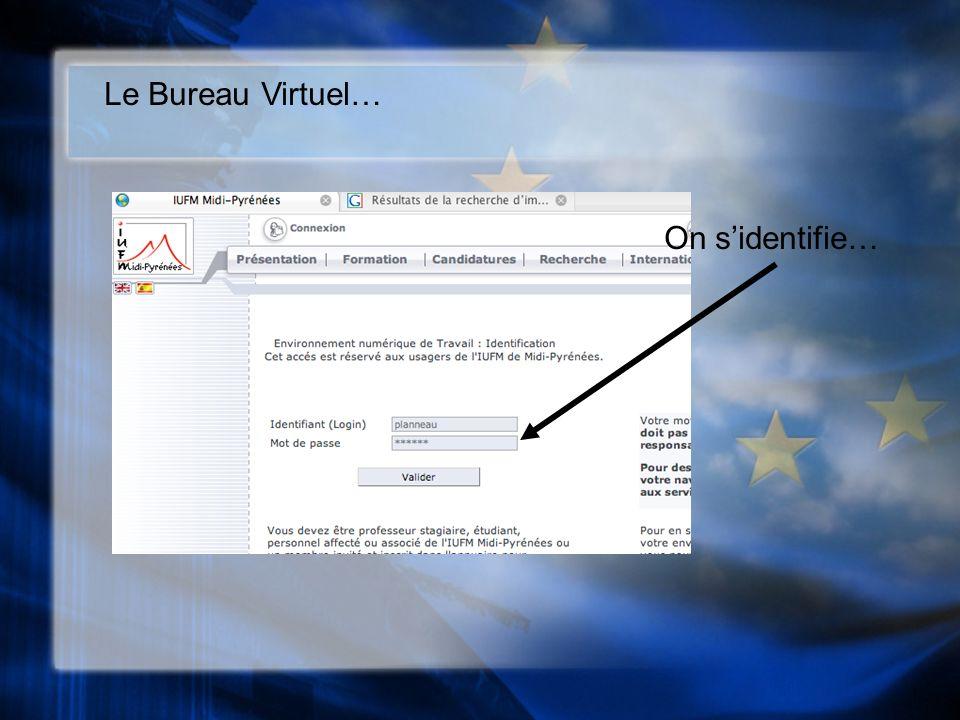Le Bureau Virtuel… On sidentifie…