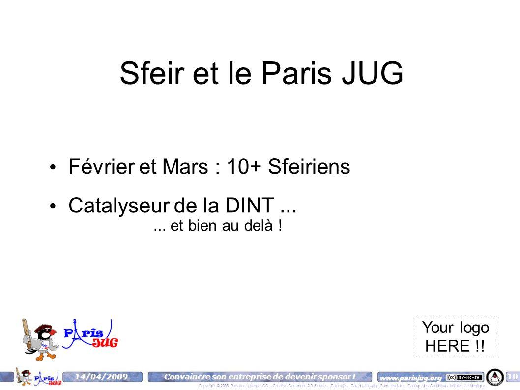 www.parisjug.org Copyright © 2008 ParisJug. Licence CC – Creative Commons 2.0 France – Paternité – Pas d'Utilisation Commerciale – Partage des Conditi
