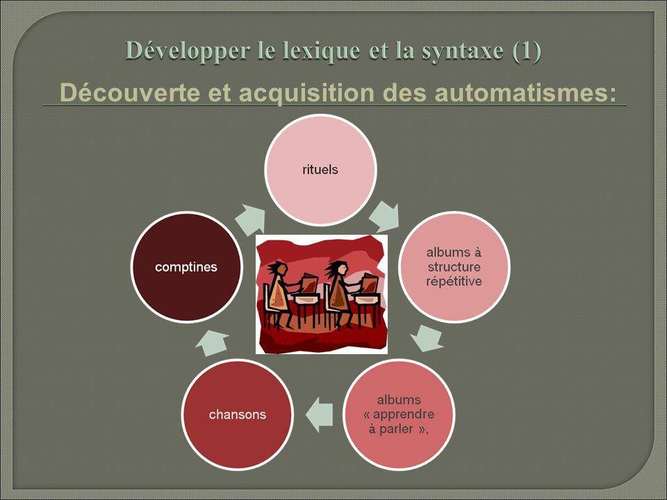 Découverte et acquisition des automatismes: